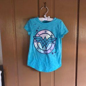 Little girl Wonder Woman t-shirt.